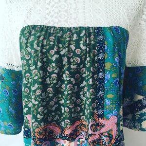 Umgee Dresses - Umgee Paisley Patchwork Lace Boho Dress